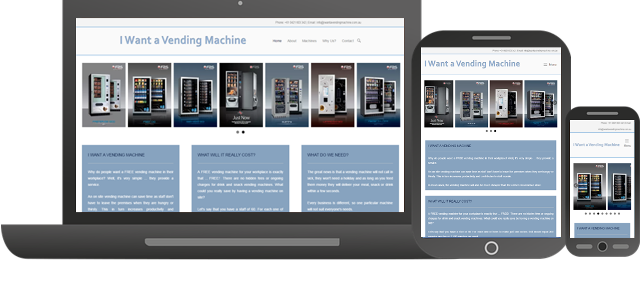 Futuristic Apps Pty Ltd - Clients - I Want a Vending Machine - Responsive Website