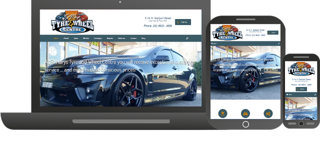 Futuristic Apps Pty Ltd - Clients - St Marys Tyres - Responsive Website